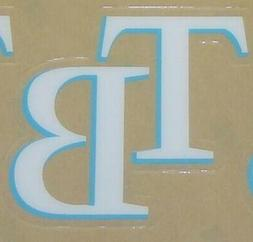 1 NEW TAMPA BAY RAYS FULL SIZE HELMET 3M STICKER DECAL