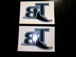 2 ORIGINAL TAMPA BAY DEVIL RAYS HIGH QUALITY VINYL DECALS ST
