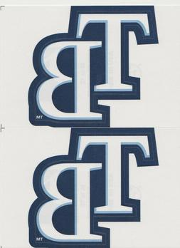 "2 TAMPA BAY RAYS LOGO STICKERS TEAM DECALS 2 3/4"" X 4 1/2"" M"