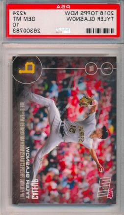 2016 Topps Now /995 Tyler Glasnow Rookie Card RC #224 PSA 10