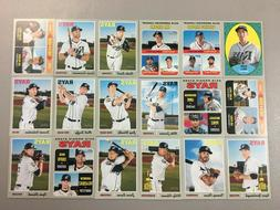 2019 Topps Heritage Tampa Bay Rays MASTER Team SP Insert Bas