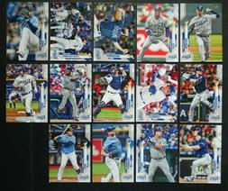 2020 Topps Series 2 Tampa Bay Rays Base Team Set of 14 Baseb