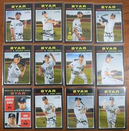 2020 Topps Heritage TAMPA BAY RAYS TEAM SET  ~ ALL SLEEVED ~