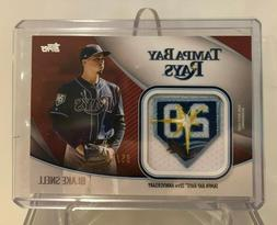 2020 Topps Series 2 Blake Snell Jumbo Jersey Sleeve Patch Re