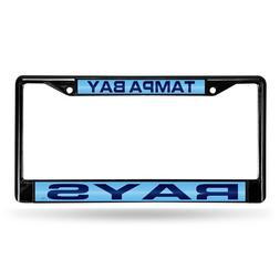 Black Laser Chrome License Plate Frame - Tampa Bay Rays
