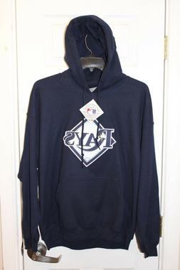 blue Tampa Bay Rays stitched hoodie / hooded sweatshirt  - a