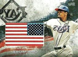 CHRIS ARCHER~2018 Topps Series 2 Independence Day U.S. FLAG