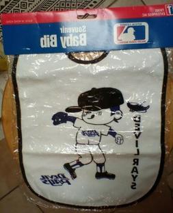 Early Tampa Bay Devil rays Baby Bib 100% Cotton/PVC backing