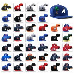 Embroidered MLB Teams Logo Baseball Cap Adjustable Snapback