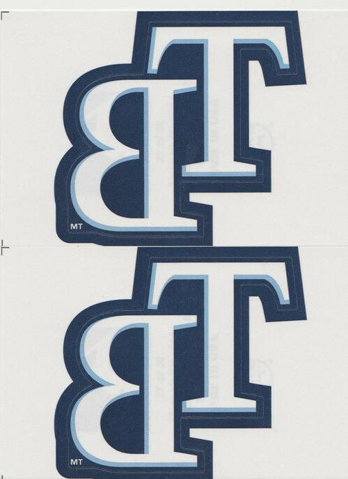 2 tampa bay rays logo stickers team