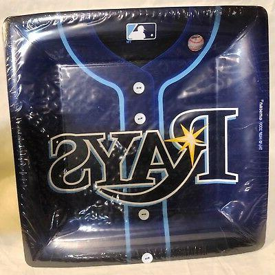 Amscan - Tampa Bay Rays Baseball Square Banquet Dinner Plate