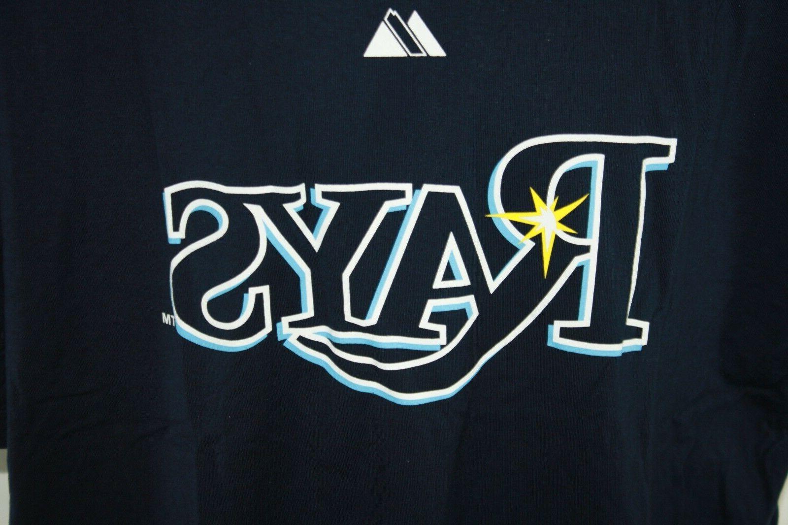 Mens Tampa Rays #3 Blue Big Tall T-Shirt