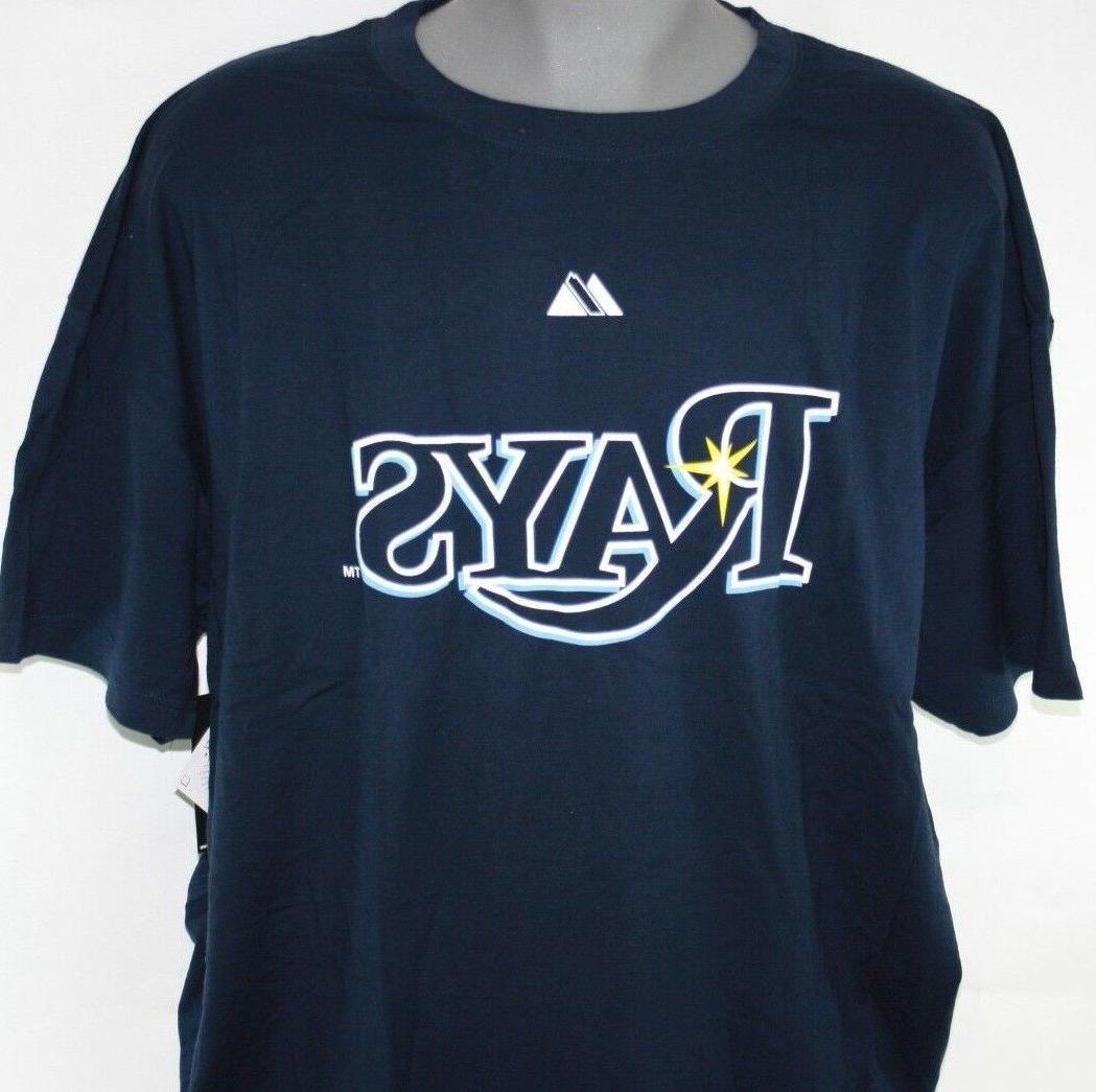 Mens Majestic Rays Evan Blue & Tall T-Shirt