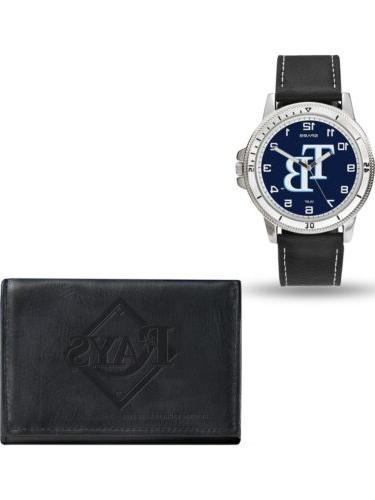 mlb tampa bay rays leather watch wallet