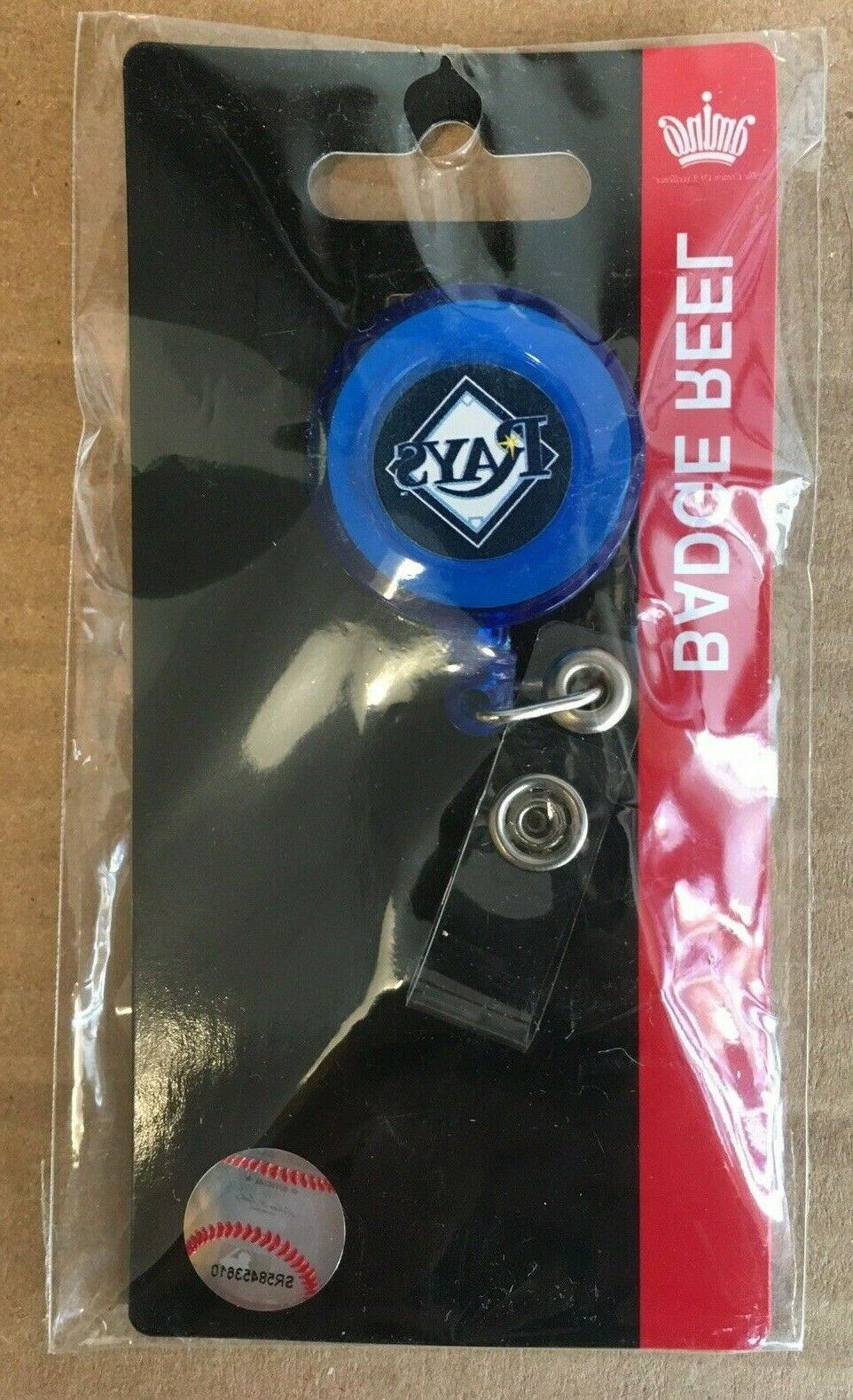 tampa bay rays badge holder reel new