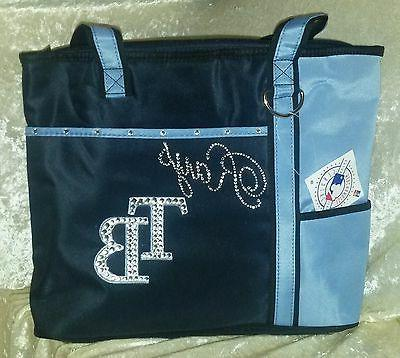 tampa bay rays blinged rhinestone purse tote