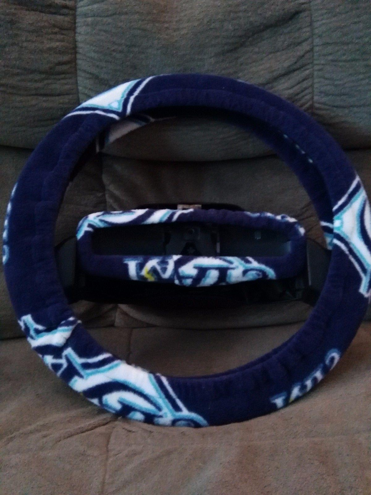 tampa bay rays fleece steering wheel cover