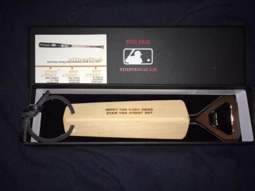 tampa bay rays game used baseball bat