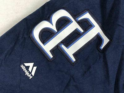 Tampa Rays Majestic Jacket Navy Poly NEW Multiple
