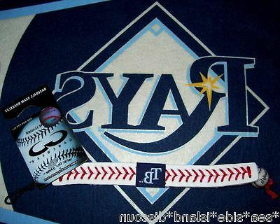Tampa Bay Rays GameWear Leather Baseball Seam Unisex Bracele