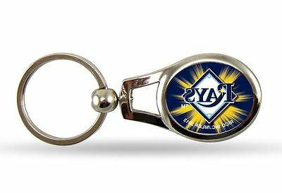 tampa bay rays oval key chain mlb