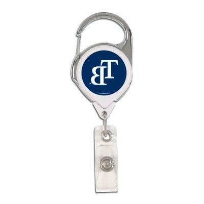 tampa bay rays premium metal retractable id