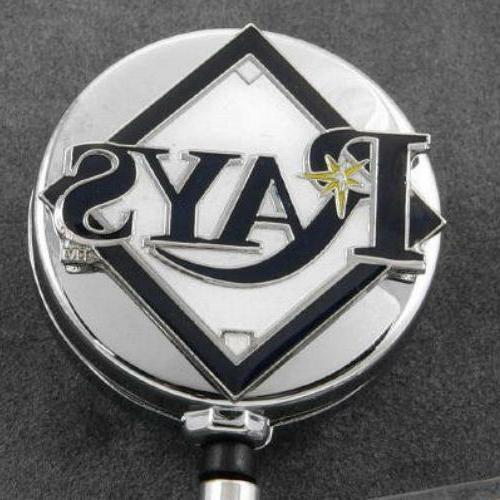 tampa bay rays retractable badge reel metal