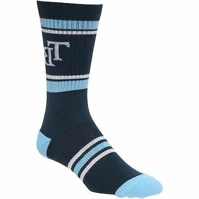 tampa bay rays stripe crew socks navy