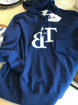HILLFLINT Ladies Tampa Bay RAYS  100% CASHMERE  HOODIE SWEAT
