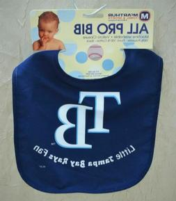 Little Tampa Bay Rays Fan Baby All Pro Bib MLB New