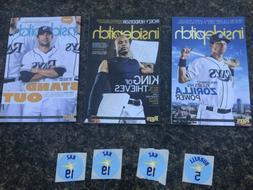 Lot of 3 Tampa Bay Rays inside pitch baseball magazine w sti