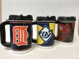 MLB 20 oz. Travel Mug with Lid Coffee Hot/Cold Choice of: Ra