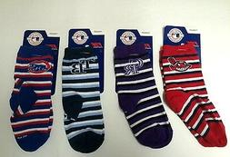 MLB Baseball Team Fan Sports Socks Kids Toddler Size 3-8 Ray