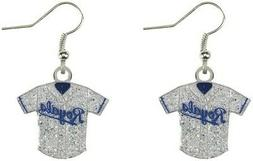 MLB Baseball Team Logo Womens Ladies Glitter Jersey Earrings