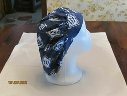 Handmade MLB Bouffant Tampa Bay Rays Surgical Scrub Hats