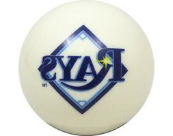MLB Imperial Tampa Bay Rays Pool Billiard Cue/8 Ball - White