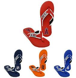 MLB Mens Locker Label Contour Sandal Flip Flop - Pick Team