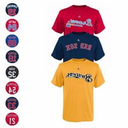 MLB Majestic Player Name & Number Jersey T-Shirt Collection