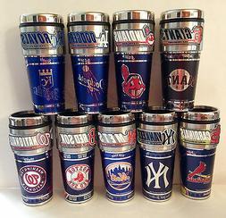 MLB Stainless Steel Coffee Mug/Travel Tumbler Insulated ~16