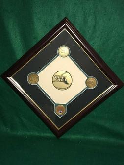 MLB Tampa Bay Devil Rays Highland Mint Infield Dirt Plaque &