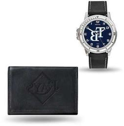 mlb tampa bay rays black faux leather