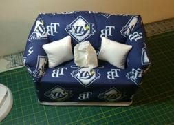 MLB Tampa Bay Rays Couch Tissue Box Cover Handmade