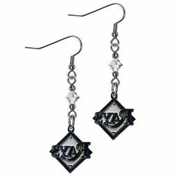 MLB Tampa Bay Rays Crystal Dangle Earrings Set J Hook Charm