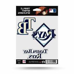 Tampa Bay Rays Stickers Die Cut Decals 3-Piece Triple Spirit