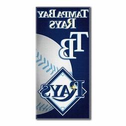 MLB Tampa Bay Rays Emblem Beach Towel, 28 x 58-Inch