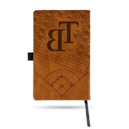 MLB Tampa Bay Rays Laser Engraved Leather Notebook - Brown