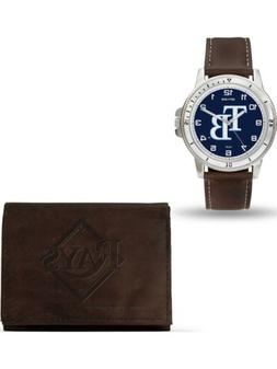 MLB Tampa Bay Rays Leather Watch/Wallet Set by Rico Industri