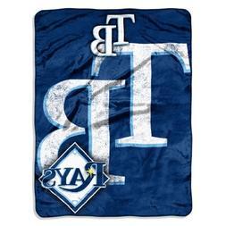 MLB Tampa Bay Rays Micro Raschel Plush Throw Blanket, Trip P