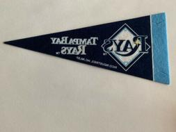 "MLB Tampa Bay Rays Mini Pennant Flag 4""x9"" NEW Baseball Deco"