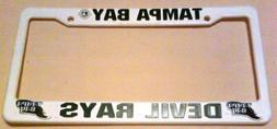 MLB Tampa Bay Rays Plastic License Plate Frame - White